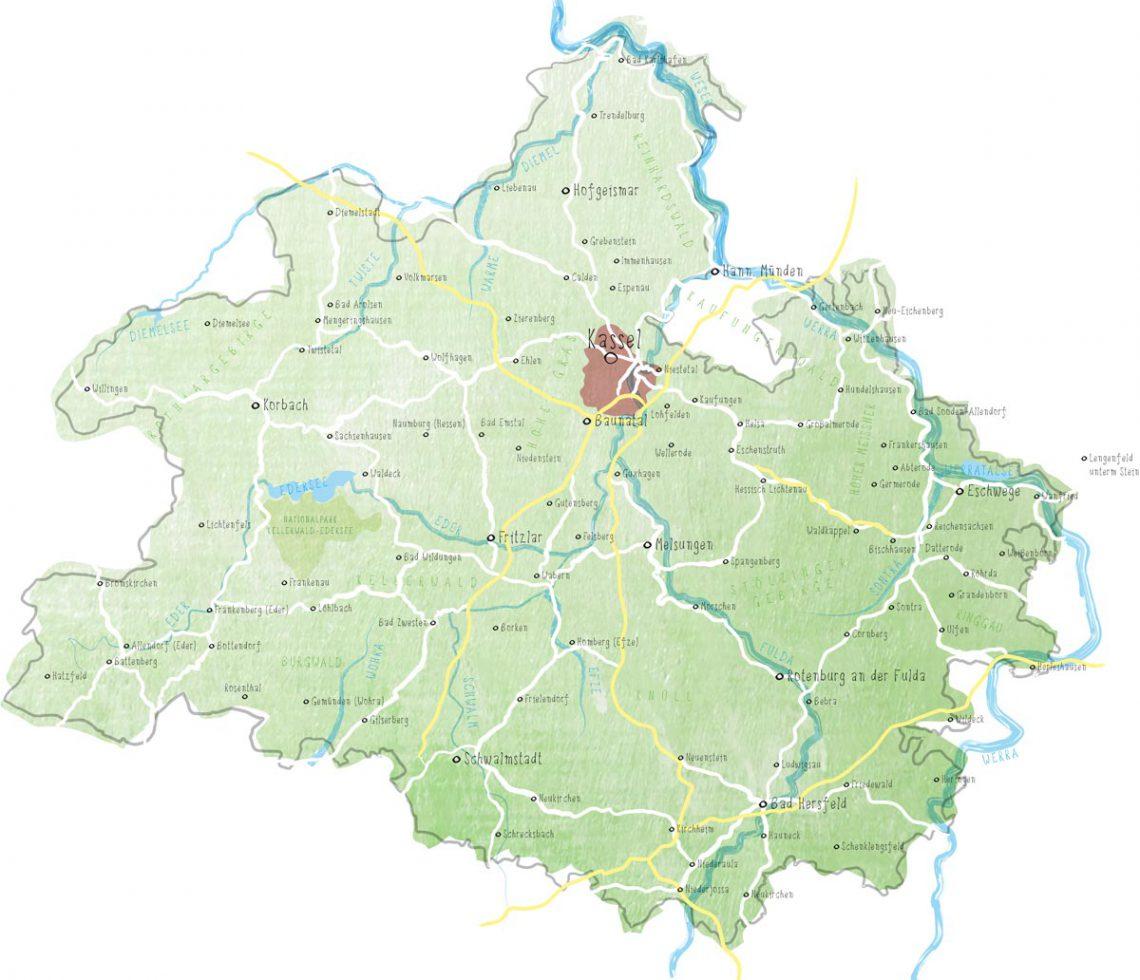 Grimmheimat Magazin Karte