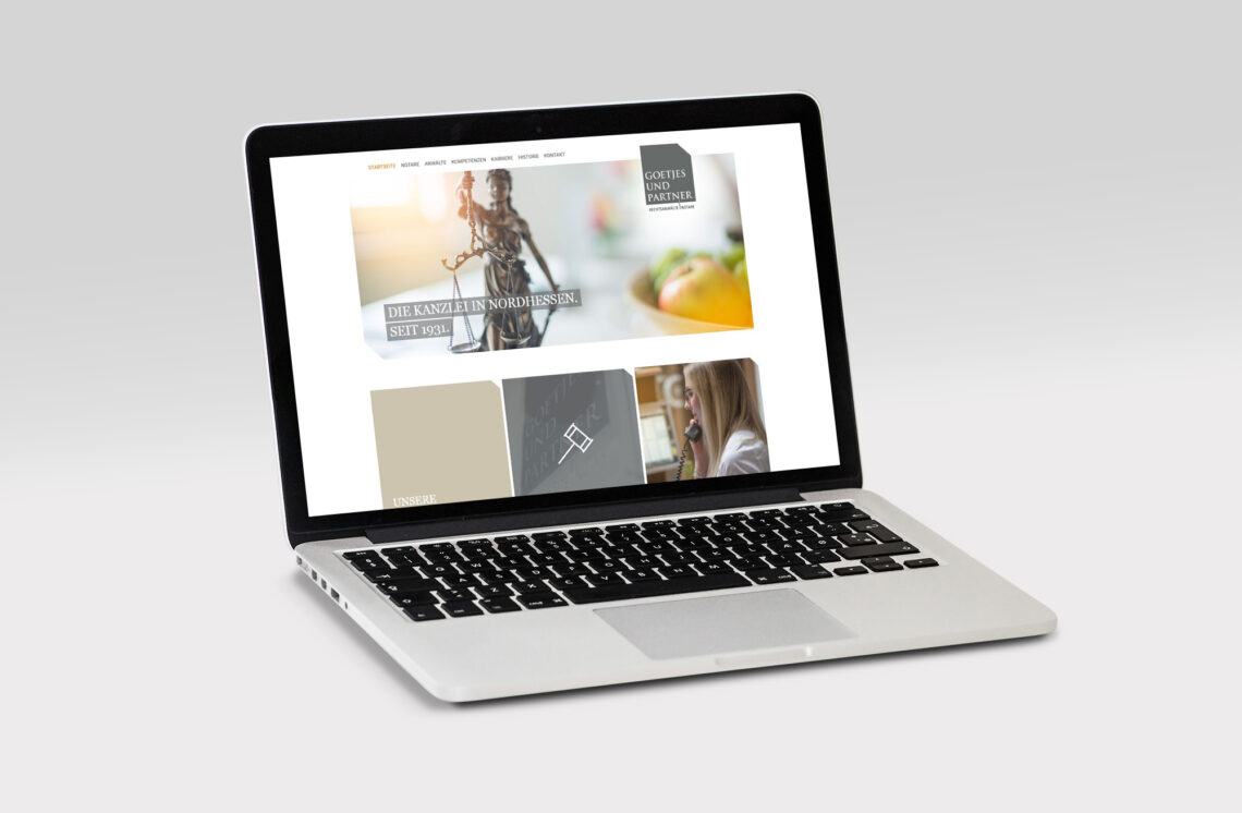 Goetjes und Partner Website Mockup